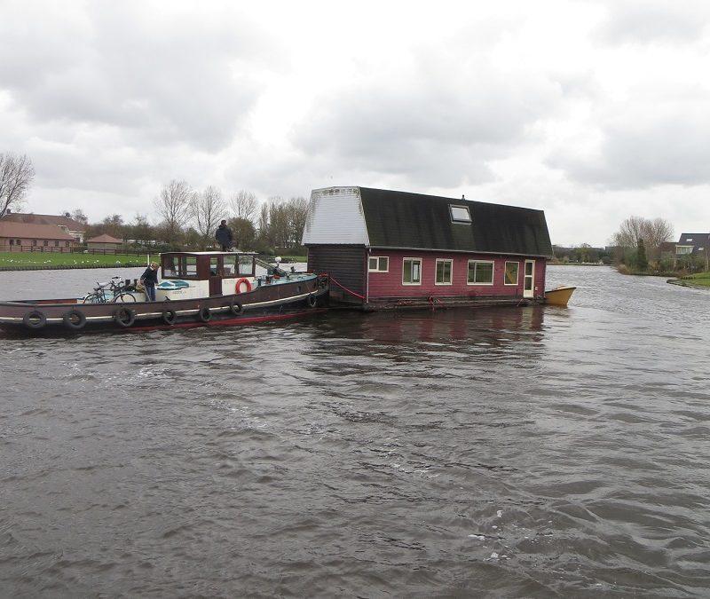 Woonboot transport